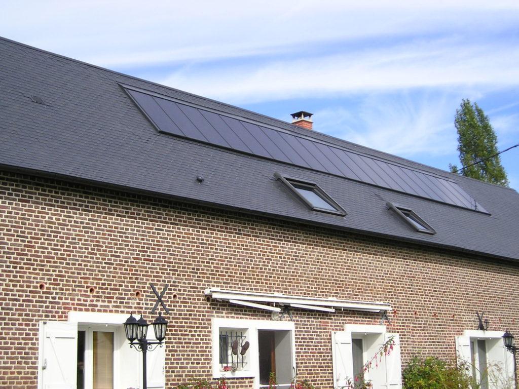 Travaux de couverture - pose ardoises naturelles et panneaux solaire - Normandie - E'solaire