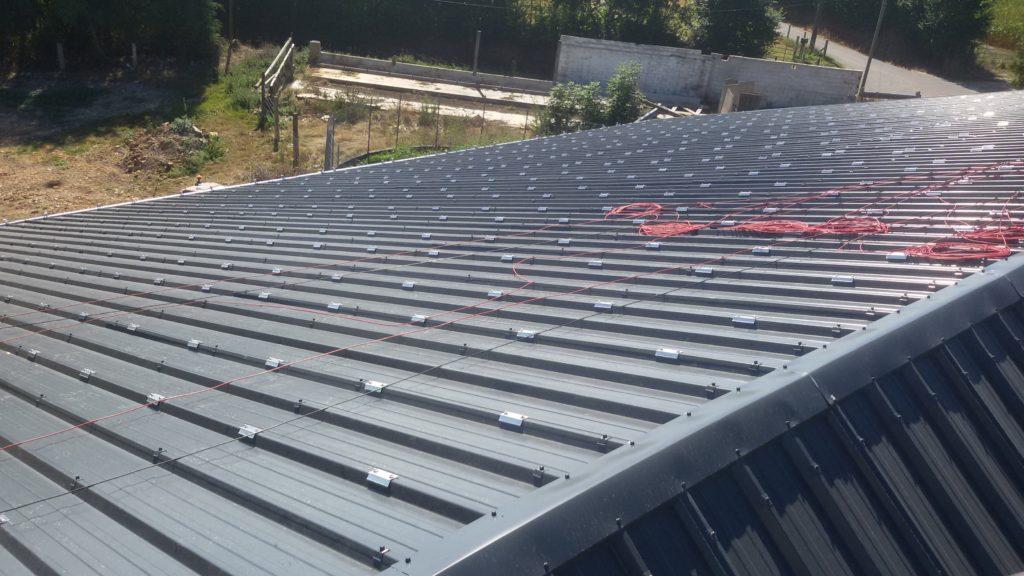 Travaux de couverture - pose bac acier - Normandie - E'solaire