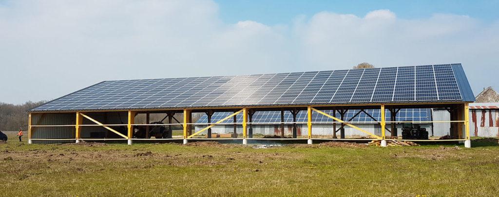 Installations panneaux solaire - Bâtiments agricoles - E'solaire